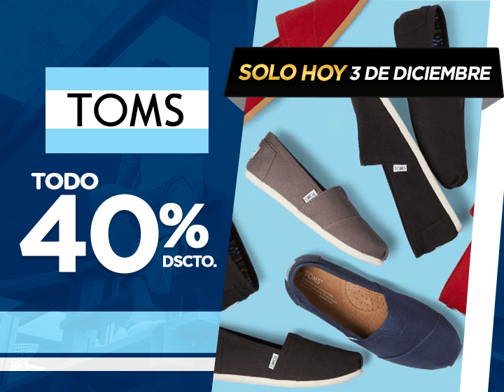Oferta Flash TOMS
