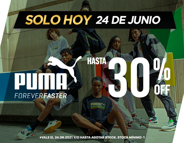 Oferta Flash JUEVES 24 DE JUNIO PUMA HASTA 30%