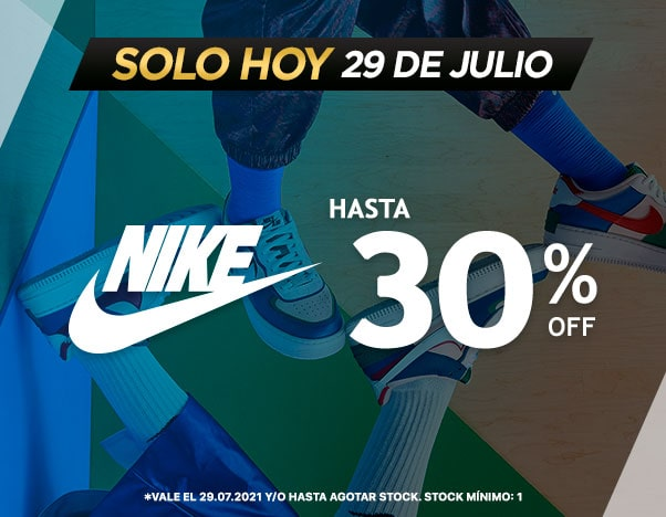 Flash Nike Jueves 29 Hasta 30% dscto