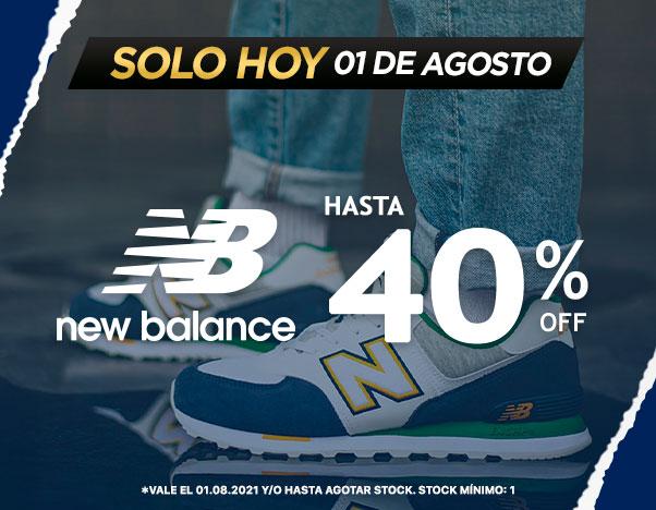 Flash New Balance hasta 40% Domingo 01 Agosto