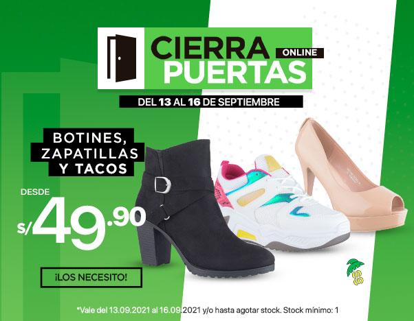 BS1 Botines, Zapatillas y Tacos Platanitos desde S/ 49.90