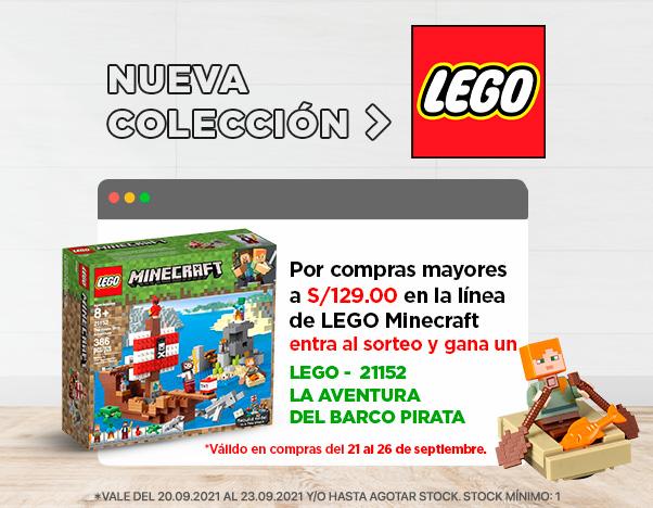 BS2 Nueva Colección Lego Sorteo Minecraf hasta 50%