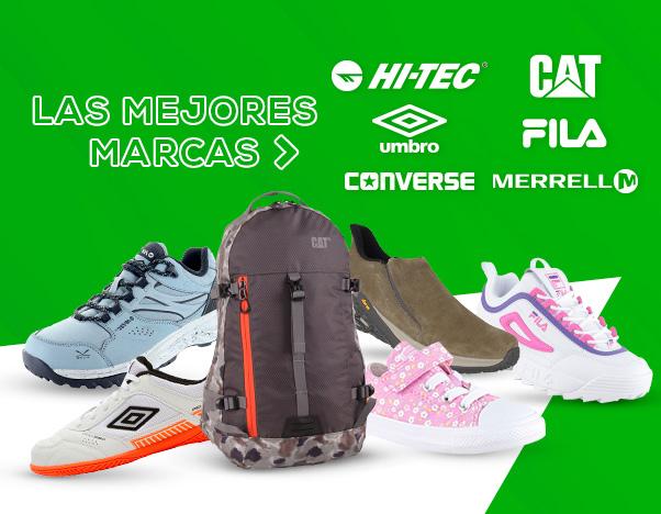 BS4 Las mejores marcas: Hi Tec / Cat / Converse / Merrell / Umbro / Fila