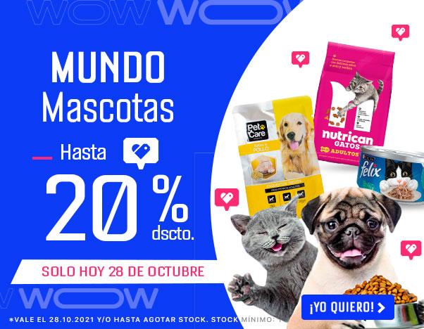 4 MUNDO MASCOTAS HASTA 20%