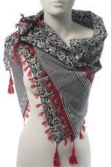 Bufanda de Mujer Platanitos NJ24281 Rojo