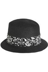 Platanitos Negro de Mujer modelo 3112-3 Sombreros