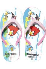 Angry Birds Rosado de Niña modelo SB 50020-A Sandalias Playeras