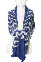 Platanitos Azul de Mujer modelo NJ07060 Bufandas