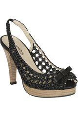 Platanitos Negro de Mujer modelo SP 915 Casual Sandalias Cuña