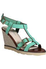 Platanitos Verde de Mujer modelo SPW 2AV2 Plataformas Cuña Sandalias