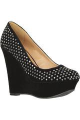 Platanitos Negro de Mujer modelo CPW WORTHY-38 Casual Zapatos Cuña
