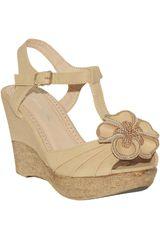Just4u Beige de Mujer modelo SPW 924-A Casual Cuña Sandalias Mujer Calzado