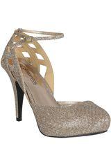 Platanitos Dorado de Mujer modelo FP SOLITA11 Plataformas Fiesta Zapatos