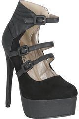 Just4u Negro de Mujer modelo CP RAVISH13-A Plataformas Casual Zapatos