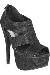 Just4u Negro de Mujer modelo FSP CONFESS54-A Casual Sandalias Fiesta Calzado