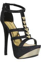 Platanitos Negro de Mujer modelo FSP COUNT23X Casual Fiesta Sandalias