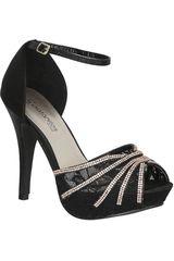 Platanitos Negro de Mujer modelo FP 10925 Plataformas Zapatos Calzado Fiesta