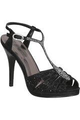 Platanitos Negro de Mujer modelo FSP 1078 Casual Fiesta Sandalias