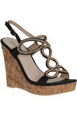 Activa Negro de Mujer modelo SPW 7A37-A Casual Cuña Sandalias Mujer Calzado