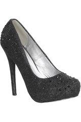 Platanitos Negro de Mujer modelo FP INGRID02 Calzado Zapatos Plataformas Fiesta