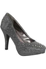 Platanitos Pewter de Mujer modelo FP LISSA02-A Plataformas Zapatos Calzado Fiesta