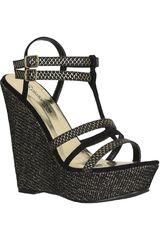 Platanitos Negro de Mujer modelo SPW 23121 Cuña Sandalias Casual