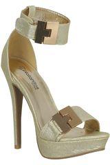 Platanitos Dorado de Mujer modelo FSP AILIE19 Casual Sandalias Fiesta Calzado