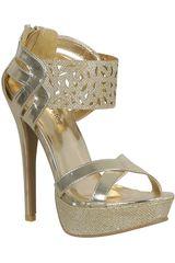 Platanitos Dorado de Mujer modelo FSP AILIE05-A Casual Sandalias Fiesta Calzado