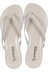 Platanitos Beige de Mujer modelo SF 1192 Sandalias Flat Casual