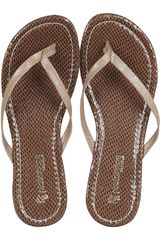 Sandalia de Mujer PlatanitosSF 1192 Dorado