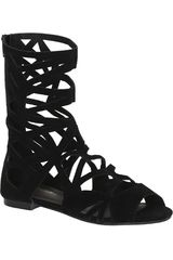 Platanitos Negro de Mujer modelo S SOLO04 Flat Sandalias