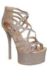 Qupid Champagne de Mujer modelo SF PINCH23 Casual Flat Sandalias Mujer Calzado