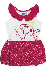 Vestido de Niña Peppa Pig PPG-183 Rojo