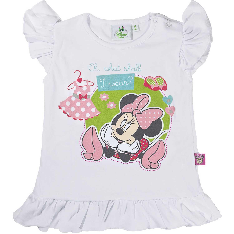 Polo de Bebita Minnie Mouse Blanco 3v15mn926622