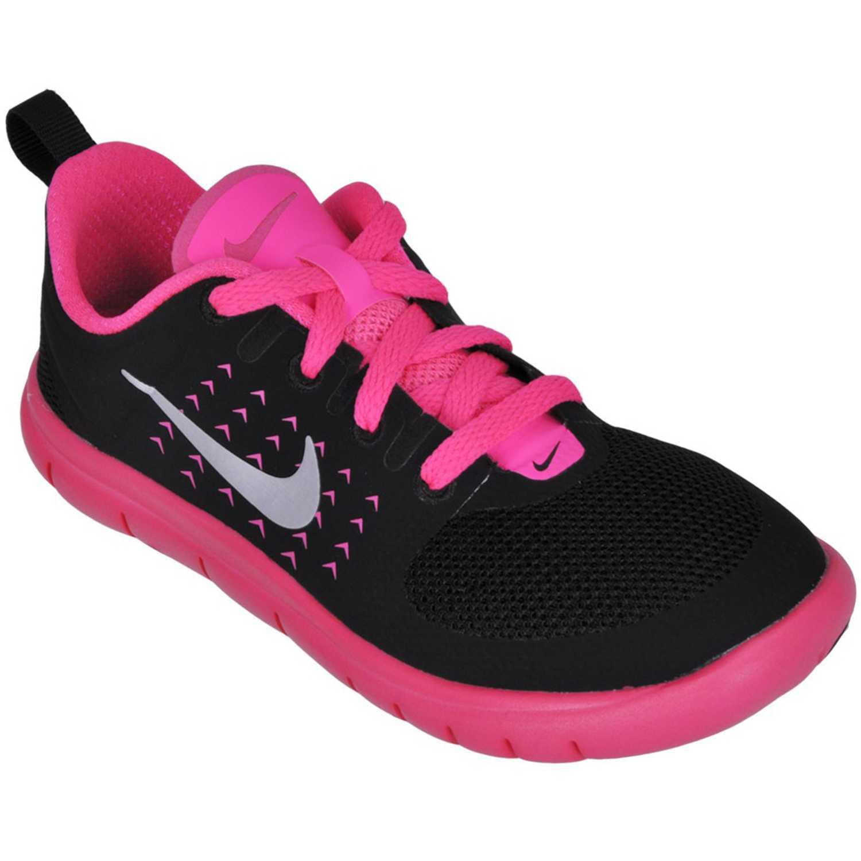 360755455 Zapatilla de Niña Nike Negro   Rosado fs lite r gp