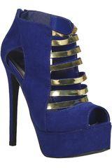 Qupid Azul Petróleo de Mujer modelo SP RAVISH78 Casual Sandalias Cuña