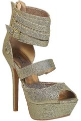 Qupid Dorado de Mujer modelo SP LETTI18 Casual Cuña Sandalias Mujer Calzado
