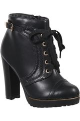 Platanitos Negro de Mujer modelo BTP 145 Casual Botínes Calzado Plataformas