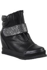 Platanitos Negro de Mujer modelo BTW 1133 Casual Calzado Cuña Botínes