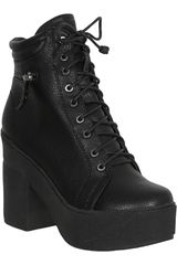 Platanitos Negro de Mujer modelo BTPT 1514 Botínes Casual Cuña Calzado