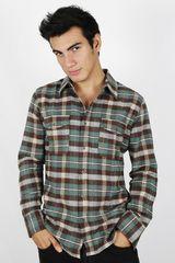 Camisa de Hombre Dunkelvolk BALLESTAS Verde