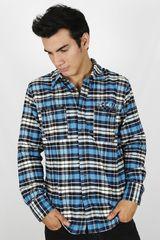 Camisa de Hombre Dunkelvolk PARAYAN Azul