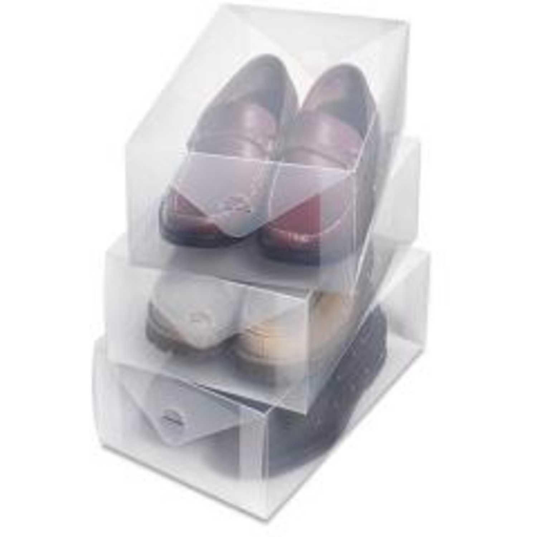 Organizador de Hombre Komerko Transparente zapatos -caja ... d7e4628b8f61