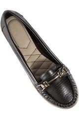 Just4u Negro de Mujer modelo M 122 Casual Mocasínes Zapatos