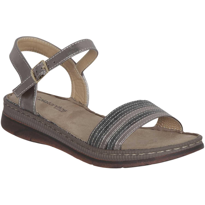 Sandalia de Mujer Platanitos Gris spt 3a1