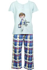 Pijama de Mujer Kayser70.577 Azul