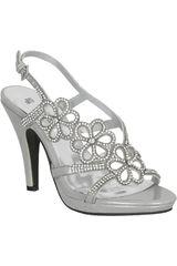 Platanitos Plateado de Mujer modelo FSP 1735 Fiesta Sandalias Calzado Casual