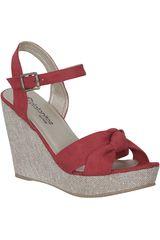 Sandalia Cuña de Mujer Platanitos SW AMY7 Rojo