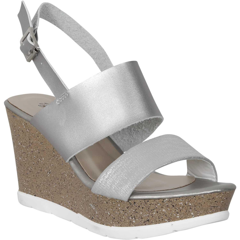 Sandalia de Mujer Platanitos Plateado spt 4658