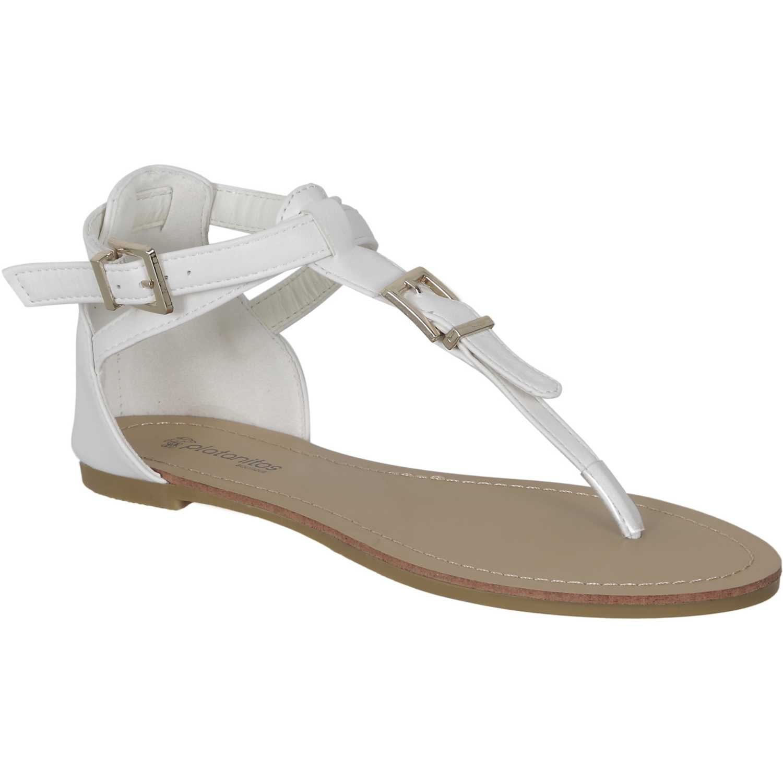 Sandalia de Mujer Platanitos Blanco sf 60989